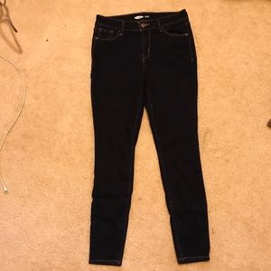 Old navy dark blue rockstar jeans